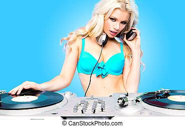 Beautiful DJ girl