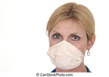 Beautiful Doctor or Nurse in Surgical Mask 13