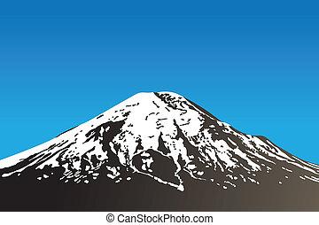 dormant volcano - beautiful dormant volcano and clear sky...
