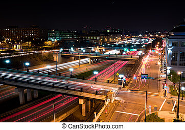 Beautiful Downtown St Paul Minnesota at Night