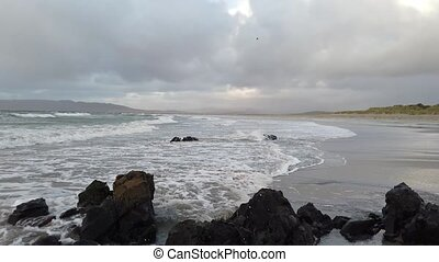Beautiful dramatic clouds above Portnoo beach in County Donegal - Ireland.