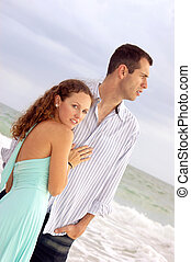 beautiful dramatic image of young couple