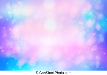 Beautiful dreamy pastel background with bokeh lights