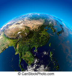 Beautiful Earth - East Asia from space - India, China, ...