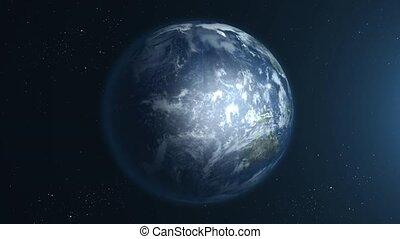 Beautiful Earth rotation 360