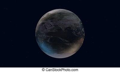 Beautiful Earth rotation