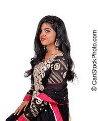 Beautiful East Indian woman.