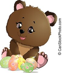 beautiful Easter bear