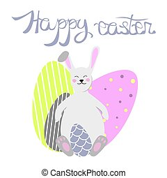 Beautiful easter bunny vector illustration