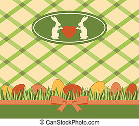 Beautiful easter card with bunny