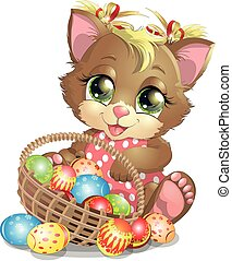beautiful Easter kitten