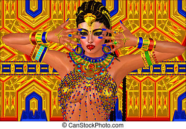 Beautiful Egyptian woman