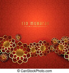 beautiful eid mubarak design with islamic pattern