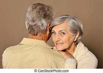 Beautiful elderly couple