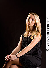 Beautiful elegant blonde woman