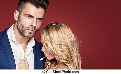 Beautiful elegant couple posing together. - Beautiful ...