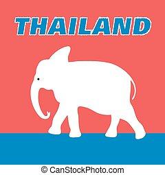Beautiful elephant symbol of Thaila
