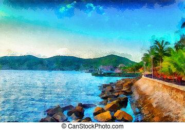 Beautiful embankment background