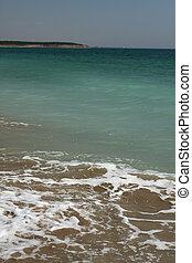 empty beach on the Black Sea