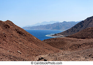 Beautiful empty coast of Red Sea in Egypt