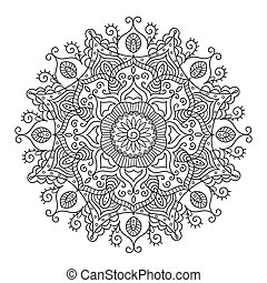 Beautiful Ethnic Mandala. Vector Round Ornament Pattern