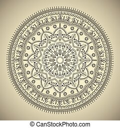 Beautiful ethnic mandala with a floral pattern