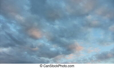 beautiful evening clouds background - timelapse