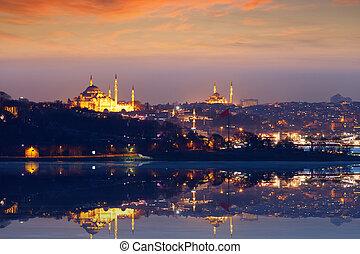 Beautiful evening in Istanbul, Turkey