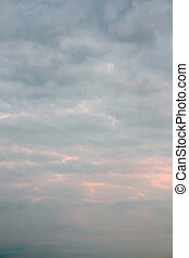 Beautiful evening sky - Beautiful blue sky with clouds, air...