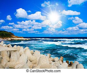 Beautiful exotic seascape