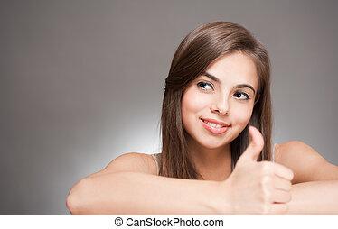 Beautiful expressive brunette.