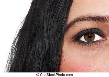 Beautiful eye in macro