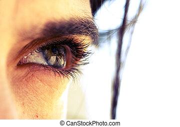 Beautiful eye - a closeup of a beautiful eye