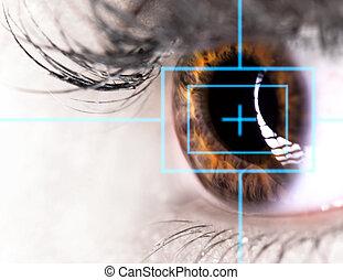 Beautiful Eye with laser