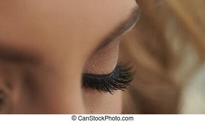 Beautiful eyes Bride close-up