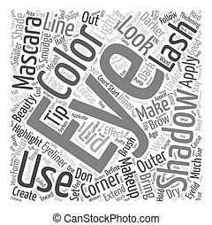 Beautiful Eyes text background wordcloud concept