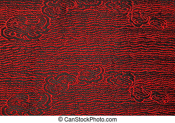 Beautiful fabric with red and black pattern