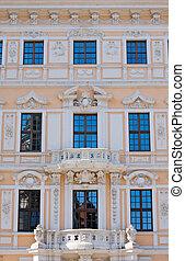 Beautiful facade seen in Dresden
