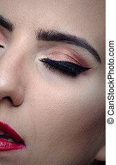 Beautiful face, close up shot