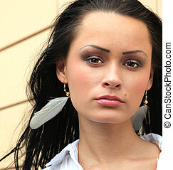 Beautiful face of girl
