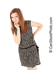 fair-haired girl portrait isolated - beautiful fair-haired ...