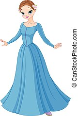 Beautiful Fairytale Princess - Illustration of beautiful ...