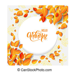 Beautiful fall leaves frame