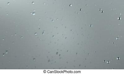 Beautiful falling drops of rain.
