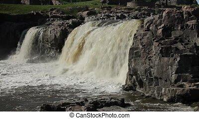 Beautiful falls of Sioux Falls, SD - Beautiful falls of...