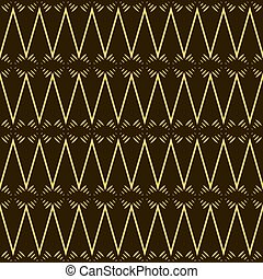 Beautiful fantasy seamless pattern in yellow, black and brown colors