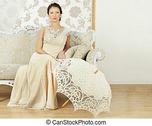 Beautiful fashion model, portrait