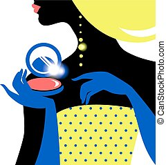 Beautiful fashion woman silhouette