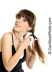 Beautiful Fashion Woman With Beautiful Braid Hair