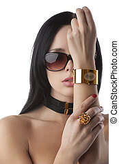 beautiful fashion woman with jewellery